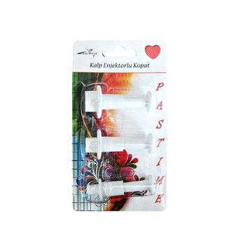 RP10411 - Kalp 3'lü Küçük Boy Enjektörlü Kopat