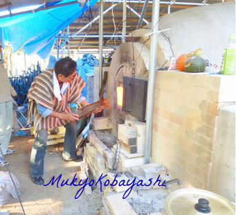 鳩山町 古代再生登り窯 窯焚き