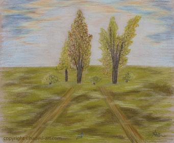 """""""Der gemeinsame Weg""""...Pastellkreide auf Papier 2015"""