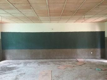 Bauarbeiten an der Maternelle, August 2017 (in einem Klassenraum)