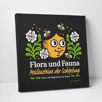 """Leinwanddruck """"Flora und Fauna"""""""