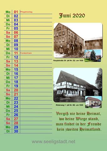 Seeligstadt Kalender 2020