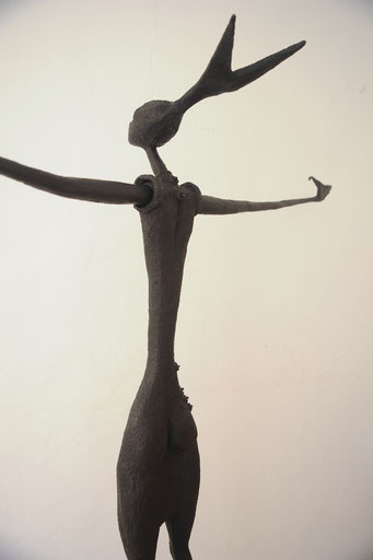 Mujer |serie Fish&Trees, bronce, patina negra, 2/8, h 215 cm,  2016
