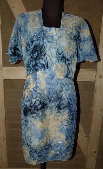 Elegantes Kleid mit leicht durchsichtiger Bolero-Jacke - ideal für viele Anlässe - ESP 79 € - bei uns nur 28 € inkl. Versandkosten