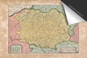 Luxemburg - Oude Kaart