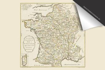 Frankrijk - Oude Kaart