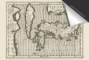 Japan - Oude Kaart