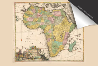 Afrika(kleur)- Oude Kaart