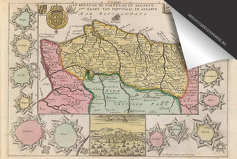 Portugal - Oude Kaart