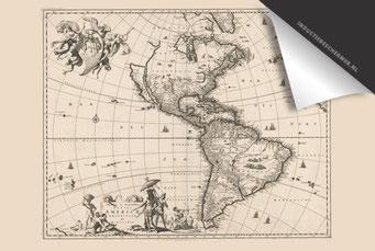 Amerika - Oude Kaart
