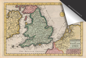 Engeland - Oude Kaart