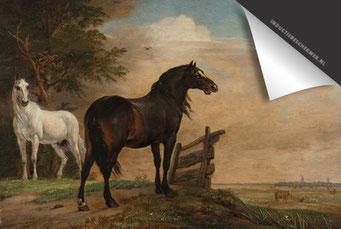 Paulus Potter - Twee Paarden Inductie Beschermer