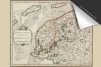 Provincie Friesland (kleur) - Oude Kaart