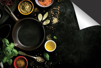 Pan pesto en kruiden