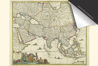 Azië - Oude Kaart