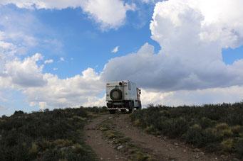Fahrt in die Wolken
