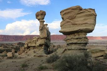 Eine bizarre Erosionslandschaft