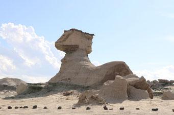 Sieht fast aus wie die Sphinx in Ägypten, nicht?