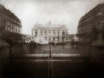 Opéra Garnier, 2007, tirage procédé FRESSON, bichromie, Numéro 1/5, format image 30x40 cm. © Annick Maroussy