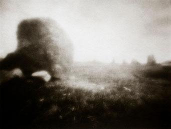 Ouessant, Le Cromlec'h, 2005, tirage procédé FRESSON, format image 30x40cm, sous passe-partout 50x60cm, Numéro 1/5. © Annick Maroussy