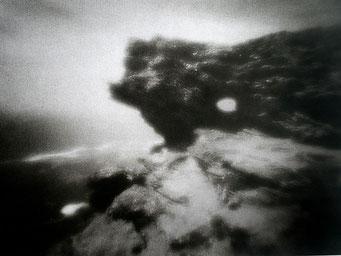 Schiste, Pointe de Pouldon,  2005, bichromie, procédé FRESSON, Format image 30 x 40 cm, sous passe-partout au format 50 x 60 cm, numéro 1/5