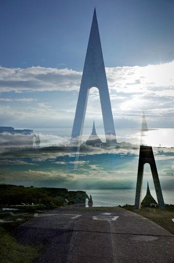Étretat. Monument Nungesser et Coli, L'oiseau blanc © Annick Maroussy Amy