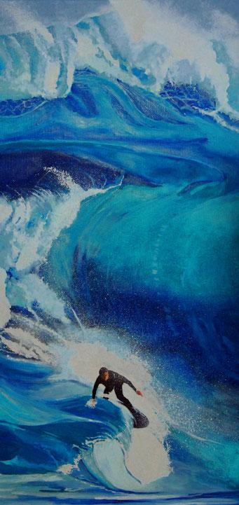 BIG WAVE -Oel auf Leinwand - 80 cm x 40 cm