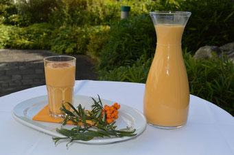 Sanddorn, Vitamin C, Sanddornsaft