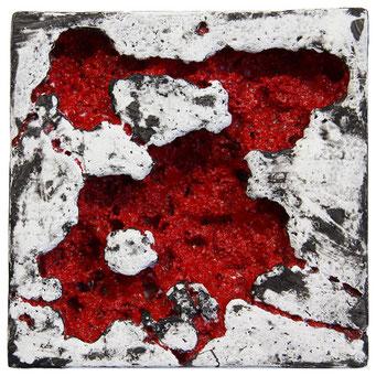 o.t. - 2010 - kunststoffe und pigment - 16 x 16 cm