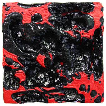 ohne titel - 2010 - kunststoffe und pigment - 16 x 16 cm