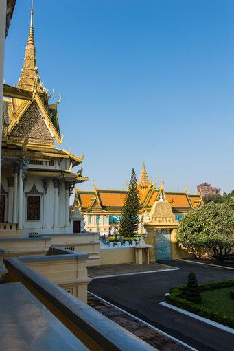 Königspalast Phnom Penh - Blick auf privaten Bereich