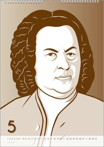 Bach-Kalender sind Musikkalender und Musik-Geschenke.