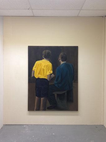 De Emmaüsgangers, oil on canvas, 180x140cm, 2016