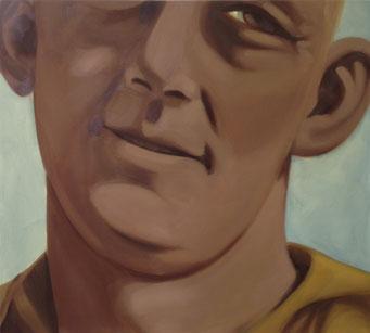In het land van de glimlach, oil on canvas,  101x 91cm