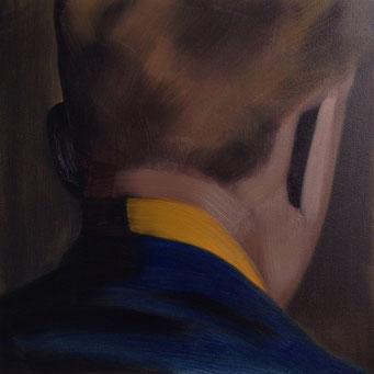 Als een schaduw, oil on canvas, 51x51cm, 2016