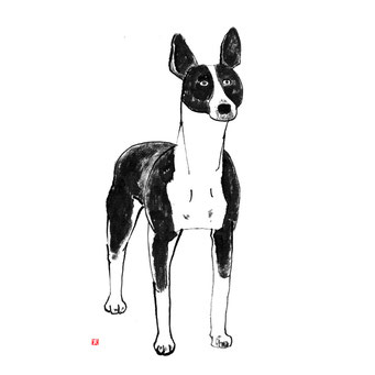 犬のイラスト アメリカンへアレステリア