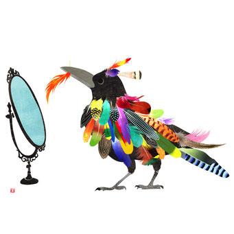鳥の王様えらび お洒落なカラス