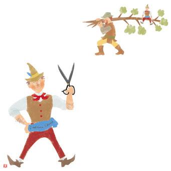 童話のイラスト 勇敢なちびの仕立て屋
