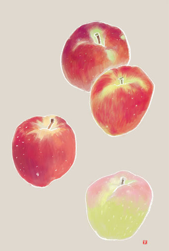 食べ物イラスト りんご