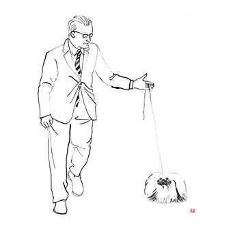犬のイラスト ペキニーズ