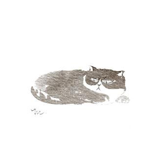 猫のイラスト ぶちゃ