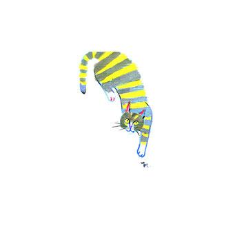 猫のイラスト シマシマ