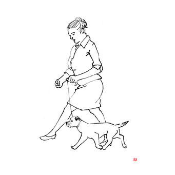 犬のイラスト ボーダーテリア