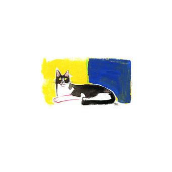 猫のイラスト タキシード