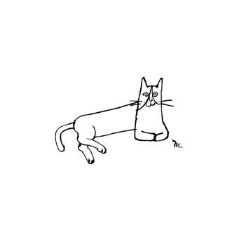 猫のイラスト 線