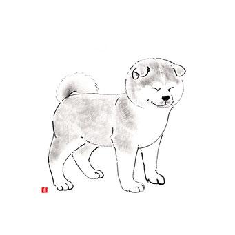 犬のイラスト 秋田犬