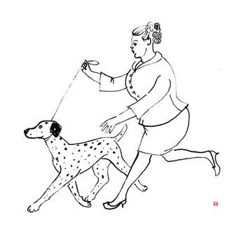 犬のイラスト ダルメシアン