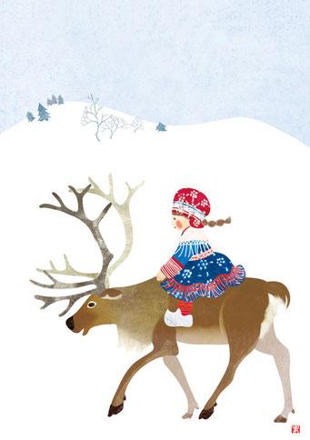クリスマスカード「聖夜」
