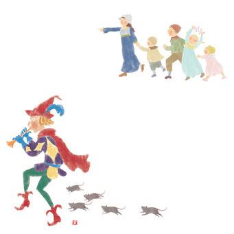 童話のイラスト ハーメルンの笛吹き男