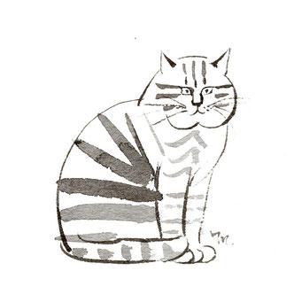 猫のイラスト ふとめ